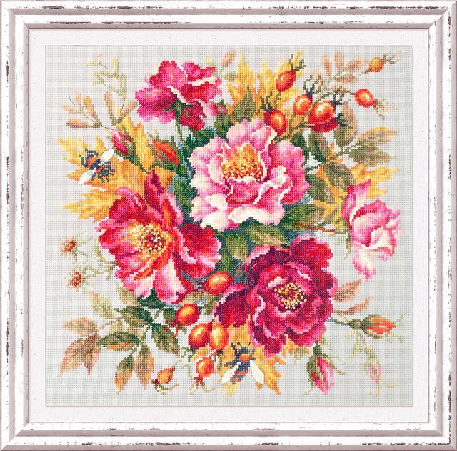 Набор для вышивания ЧУДЕСНАЯ ИГЛА  Магия цветов. Шиповник (140-002)