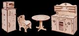 Столовая - Мебель для кукол до 30см