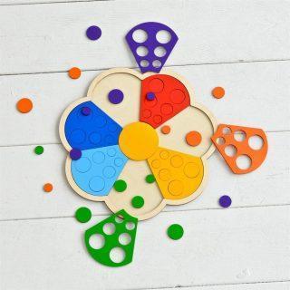 Мозаика-сортер дерев. Цветик-семицветик