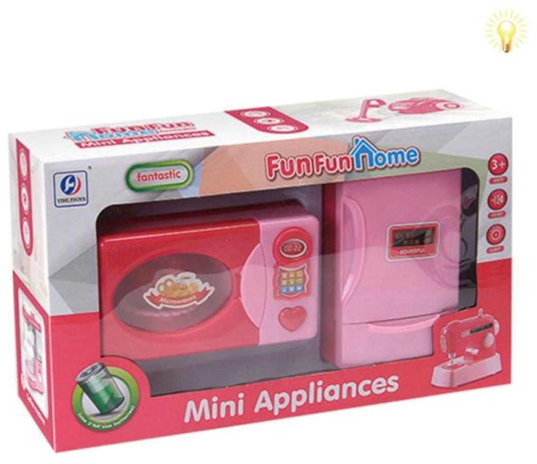 Игровой набор Бытовая техника, в комплекте микроволновая печь, холодильник, свет, звук, эл.пит. ААх4шт не вх. в компл. кор