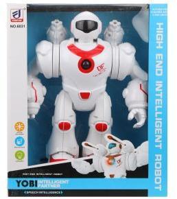 Робот эл., свет, звук, стреляет ракетами 2шт., эл.пит. АА*3шт.не вх.в комплект