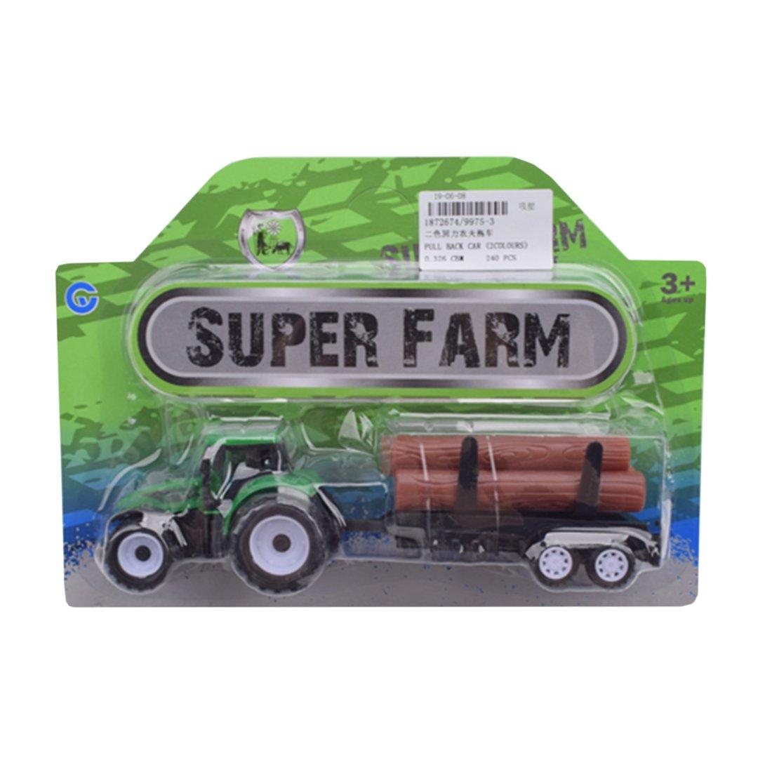 Игр.набор Фермер, в комплекте: трактор инерц. с прицепом, предметы 3шт., блистер