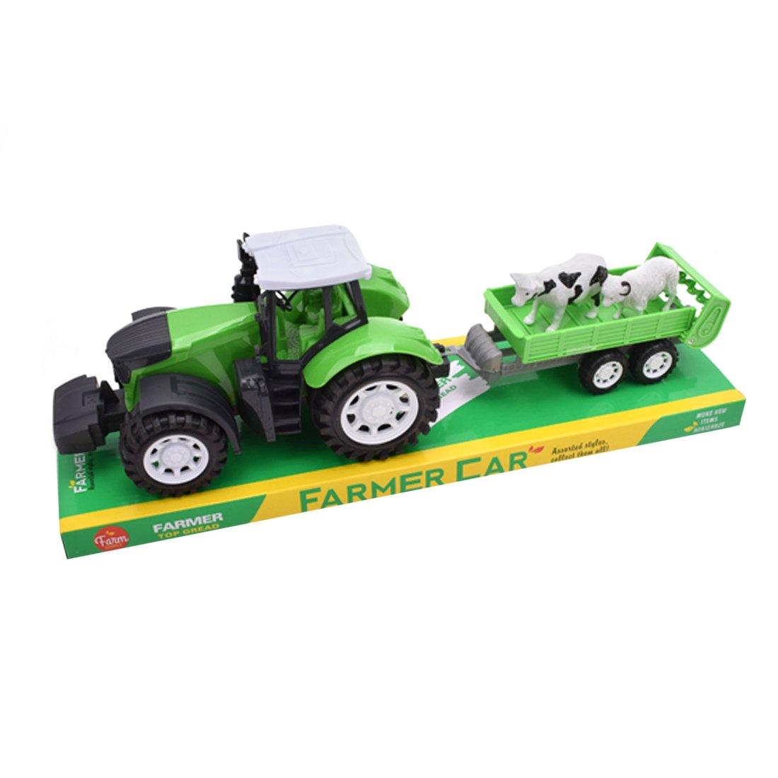Игр.набор Фермер, в комплекте: трактор инерц. с прицепом, фигурки 2шт.