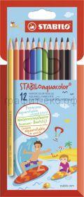 Карандаши акв.12цв.Stabilo Aquacolor 1612-6