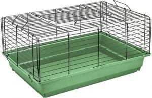 Клетка Дарэлл для кроликов и морских свинок Кролик №1 чёрная складная 58х40х30см
