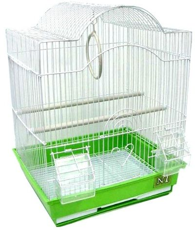 Клетка N1  для птиц фигурная укомплектованная 30х23х39см