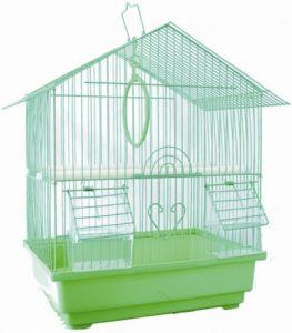 Клетка №1  для птиц домик укомплектованная 30х23х39см