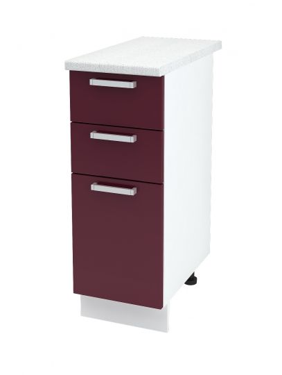 Шкаф нижний с 3 ящиками Дина ШН3Я 300