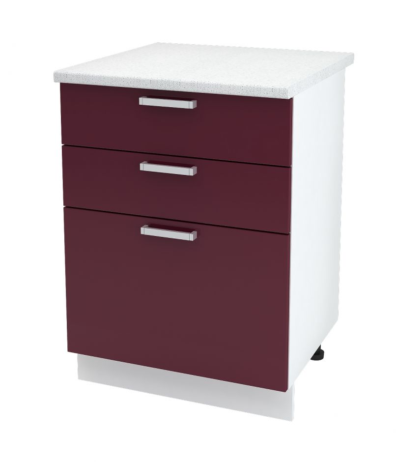 Шкаф нижний с 3 ящиками Дина ШН3Я 600