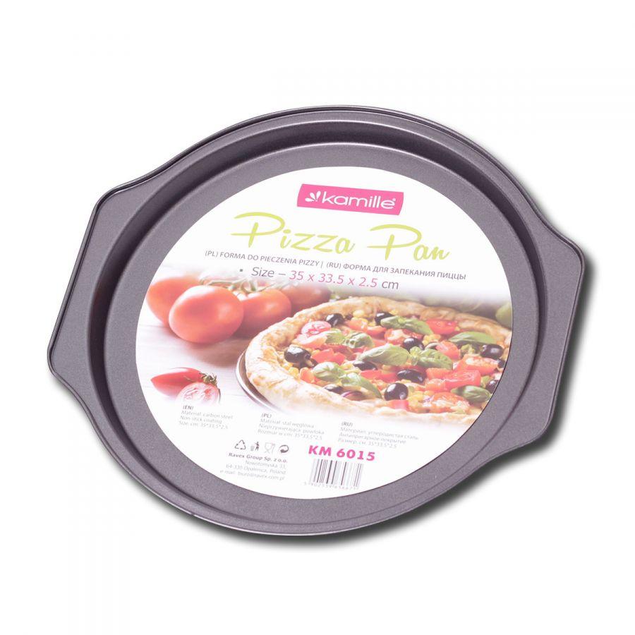 Форма для запекания пиццы 35*33.5*2.5см из углеродистой стали КМ-6015 Kamille