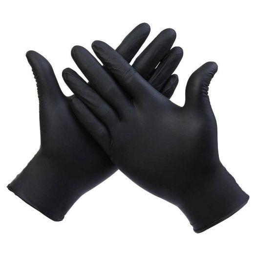 Перчатки черные текстурные (нитрил) 50 пар / 100 штук