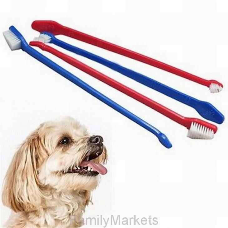 Набор двусторонних зубных щёток для собак Toothbrushes For Dogs, 4 шт