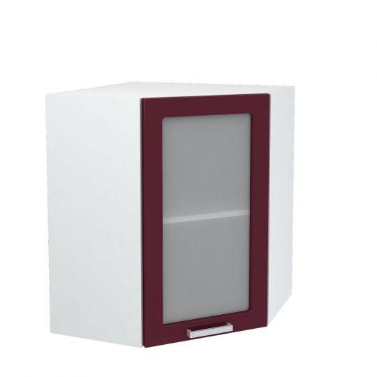Шкаф верхний угловой со стеклом Дина ШВУС 600