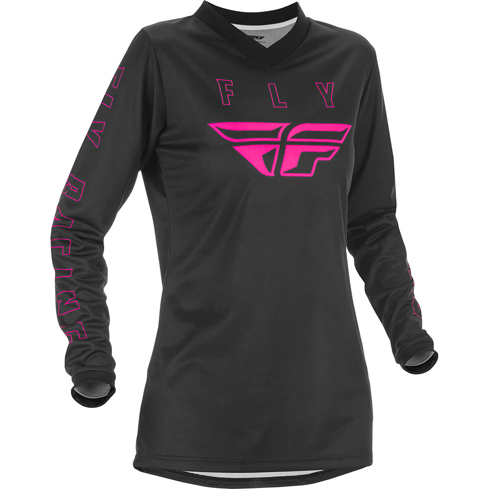 Fly Racing 2021 Women's F-16 Black/Pink джерси женское
