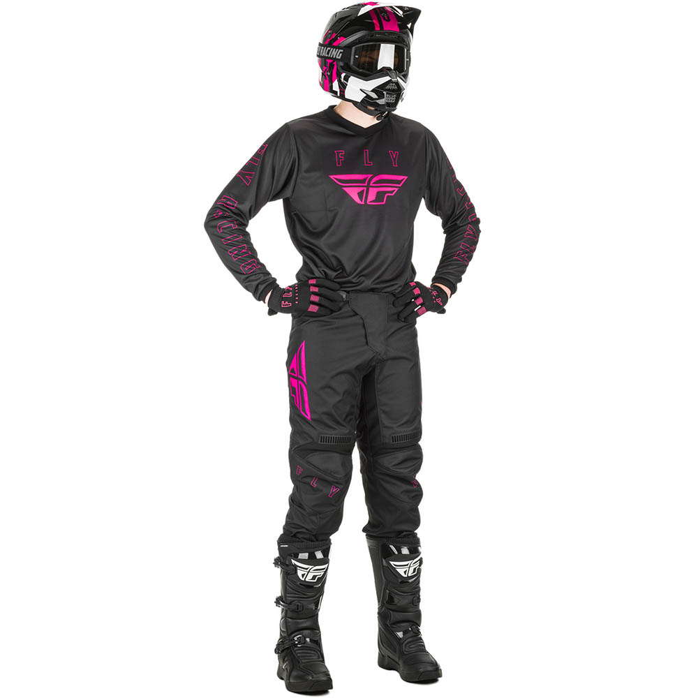 Fly Racing 2021 F-16 Black/Pink  комплект джерси и штаны
