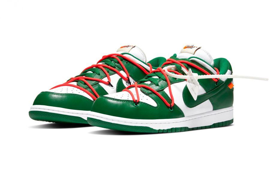 Кроссовки Nike Dunk Low Off-White Pine Green