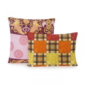 Подушка Эконом «Файбер», размер 48х68 см, цвет МИКС, полиэфирное волокно