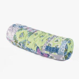 Подушка валик, 50х50х18 см, цвет МИКС, лузга гречихи
