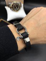 Мужской кожаный браслет Salvatore Ferragamo