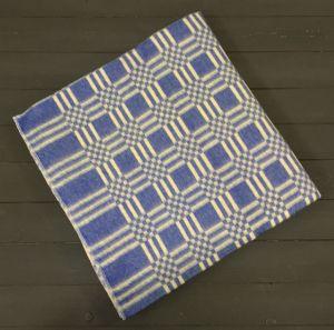 Синее Клетка 5772В 205х140 75% х/б +25% ПАН Байковое  Ермолино одеяло