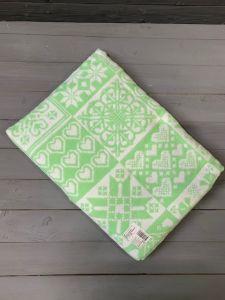 Зеленое Уют 5772ВЖ 215х150 75% х/б +25% вискоза  Ермолино одеяло
