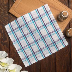 Полотенце вафельное Пальмира 070 30х30 см, синий, хлопок 100%, 200г/м2 4777527