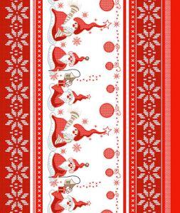 Вафельное полотенце Санта размер 50 х 60