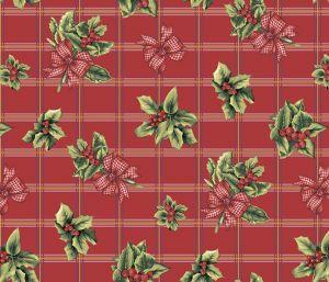 Вафельное полотенце Рождественский букет размер 50 х 60