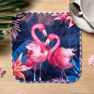 "Полотенце микрофибра ""Фламинго"" 20х20 см"