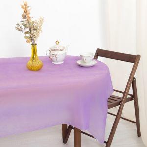 Скатерть для дачи Хозяюшка Радуга, цвет фиолетовый 137?274 см