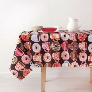 Скатерть «Доляна» Пончики 150?250 см, 100% п/э