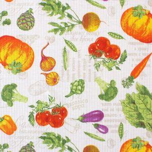 """Скатерть """"Доляна""""  Овощи  70х70 см, 100% хлопок, вафельное полотно, 162 г/м2   1972232"""