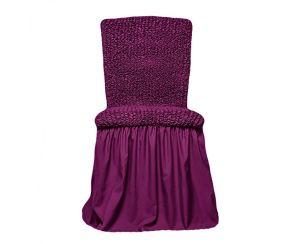 Чехол на стул с оборкой,Фиолетовый
