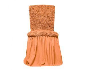 Чехол на стул с оборкой,Коралловый