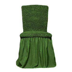 Чехол на стул с оборкой,Зеленый