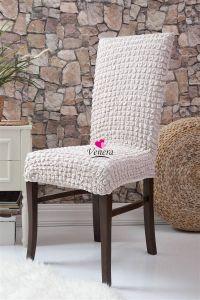 Набор чехлов для стульев 6 шт без оборки,натурал