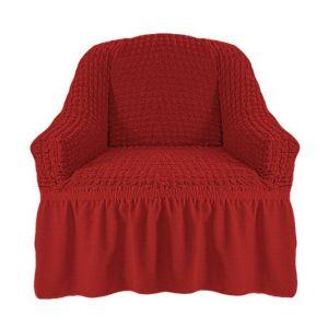 Чехол на кресло с оборкой (1шт.) К 029,Кирпичный