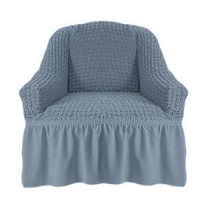 Чехол на кресло с оборкой (1шт.) К 029,Серый
