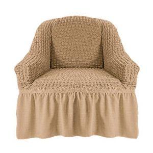 Чехол на кресло с оборкой (1шт.) К 029, Бежевый