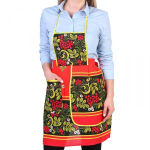 Фартук «Хохлома», сувенирный, с карманом и полотенцем 3292710