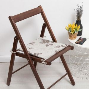 Сидушка на стул «Фиалка», цвет тёмно-бежевый, 34х34х1,5см