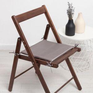 Сидушка на стул тафта, цвет серый 34х34х1,5 см