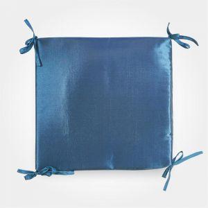 Сидушка на стул тафта, цвет морская волна, 34х34х1,5 см