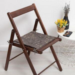 Сидушка на стул «Акация», цвет серый 34х34х1,5см