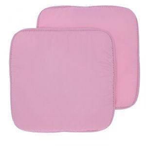 Набор подушек на стул (2 шт.), размер 34х34 ± 2 см, цвет розовый
