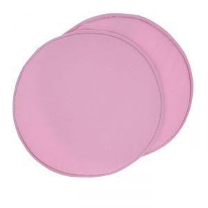 Набор круглых подушек на стул (2 шт.), диаметр 34 ± 2 см, цвет розовый