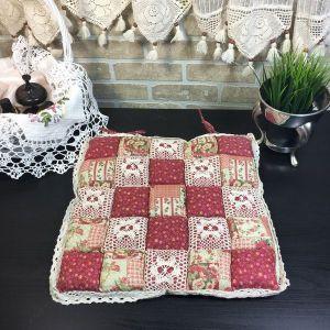Подушка для стула пэчворк дизайн 20
