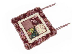 Подушка на стул из бязи арт: 18011-12 размер 45 х 45