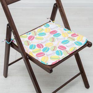 Подушка на стул «Этель» Макарон 40х40, с завязками рогожка 160 г/м?, 100% хлопок