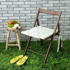Подушка на стул уличная «Этель» Листья 45?45 см, репс с пропиткой ВМГО, 100% хлопок